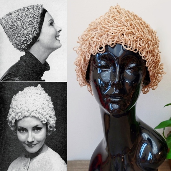 VTG 60s Loop Knit Hat